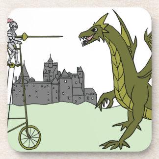Knight Riding A Tall Bike Slaying A Dragon Coaster