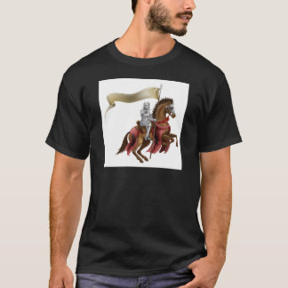 knight riding horse 2014 A6.jpg T-Shirt
