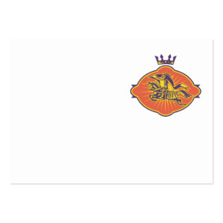 Knight Riding Horse Lance Retro Business Cards