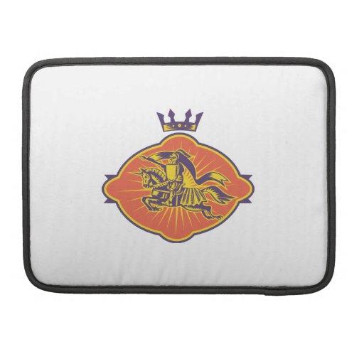 Knight Riding Horse Lance Retro Sleeve For MacBook Pro