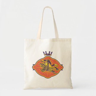 Knight Riding Horse Lance Retro Tote Bag