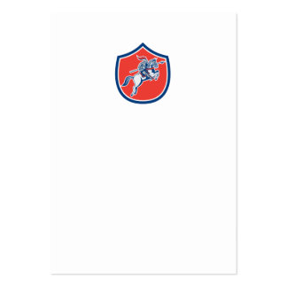 Knight Riding Horse Lance Shield Cartoon Business Card Templates