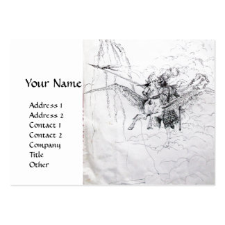 KNIGHT RIDING ON PEGASUS BUSINESS CARD TEMPLATE