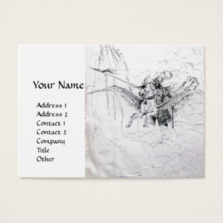 KNIGHT RIDING ON PEGASUS BUSINESS CARD