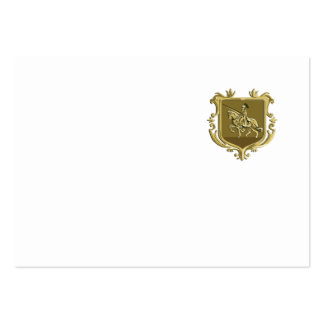 Knight Riding Steed Lance Coat of Arms Retro Large Business Card