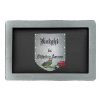 Knight Shield Rose Belt Buckle