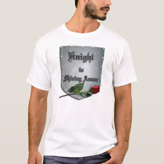 Knight Shining Armor Rose Shield T-Shirt