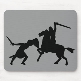 Knight Silhouette Mouse Pad