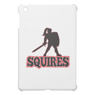 Knight Silhouette Squires Sword Shield Cartoon iPad Mini Cases