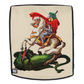 KNIGHT SLAYING A DRAGON BACKPACK FACE
