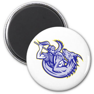 Knight St. George Fighting Dragon Mascot Refrigerator Magnets