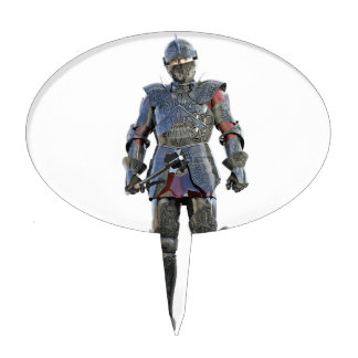 Knight Standing and Looking Forward Cake Topper
