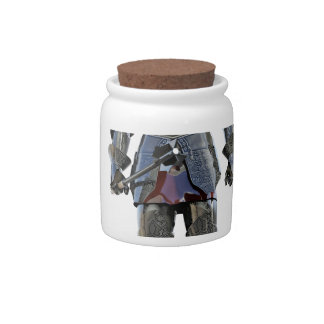 Knight Standing and Looking Forward Candy Jars