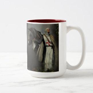 Knight templar Two-Tone coffee mug