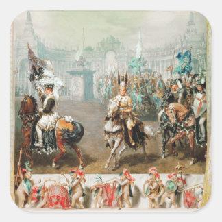 Knight tournament square sticker