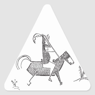 Knight Triangle Sticker