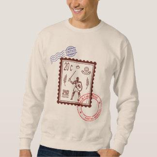 Knight Vintage Postal Stamp Sweatshirt