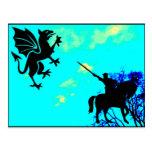 Knight vs Gryphon Postcards