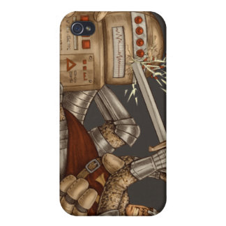 Knight VS Robot iPhone Case Cover For iPhone 4