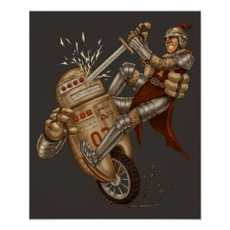 Knight VS Robot Print
