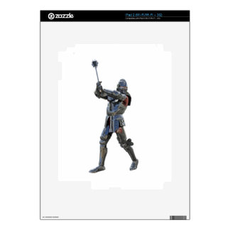 Knight walking to the right with mace decals for the iPad 2