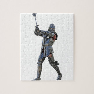 Knight walking to the right with mace jigsaw puzzle