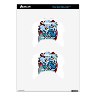 Knight Wielding Axe Cartoon Character Xbox 360 Controller Skins