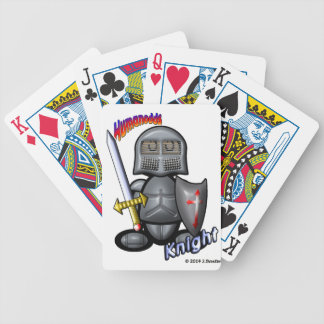 Knight (with logos) bicycle playing cards