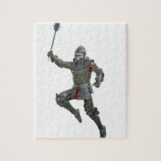 Knight with Mace Leaping to The Right Jigsaw Puzzle