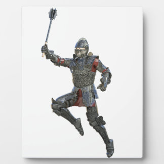 Knight with Mace Leaping to The Right Plaque