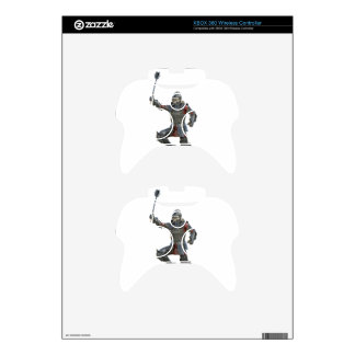 Knight with Mace Leaping to The Right Xbox 360 Controller Skin