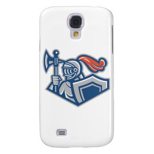 Knight With Spear Axe And Shield Galaxy S4 Cover
