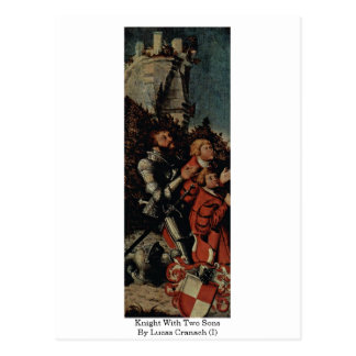 Knight With Two Sons By Lucas Cranach (I) Postcard