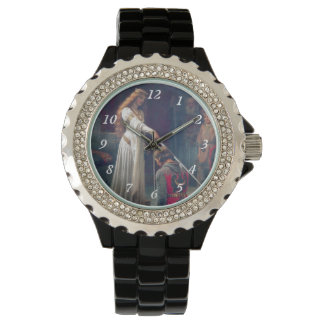 Knighted lady sword medieval knight painting wrist watch