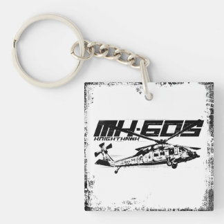 Knighthawk Square (double-sided) Keychain
