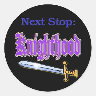 Knighthood Etiquetas Redondas