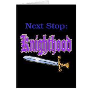 Knighthood Tarjeta De Felicitación