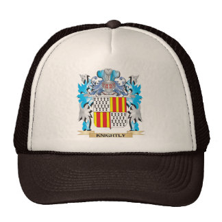 Knightly Coat of Arms - Family Crest Trucker Hats