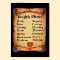 4Q. Knightly Virtues: Zazzle.com Store