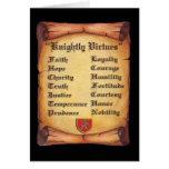 Knightly Virtues Card