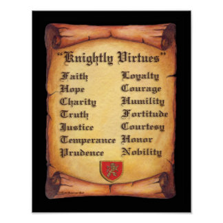 Knightly Virtues print