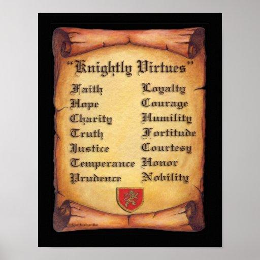 Knightly Virtues print