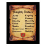 Knightly Virtues Scroll Poster