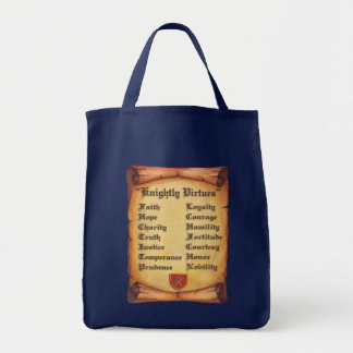 Knightly Virtues Tote Bag