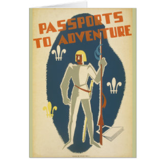 Knights, Adventures, and Books Poster Card