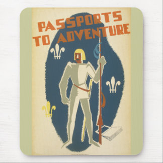 Knights, Adventures, and Books Poster Mouse Pad