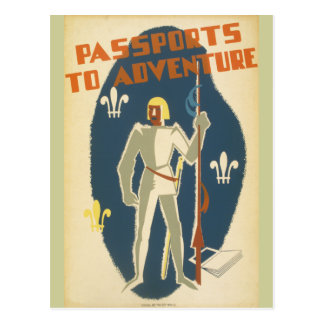 Knights, Adventures, and Books Poster Postcard