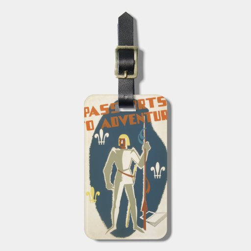 Knights, Adventures, and Books Poster Tags For Luggage