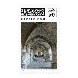 Knight's Armor down a Castle Hallway Postage
