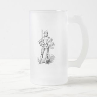 Knight's Armor Frosted Glass Beer Mug